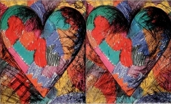 Jim Dine - Two Louisiana Hearts - R 125,000.00 (incl)