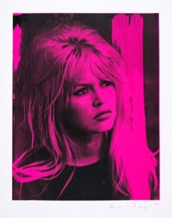 Bridget Bardot, for the Femme Fatale Series, electric pink