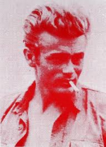 James Dean - Red on White