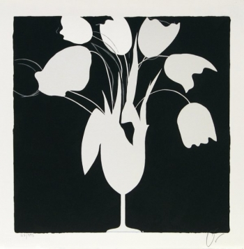 Donald Sultan - White Tulips and Vase - R 130,000.00 (incl)